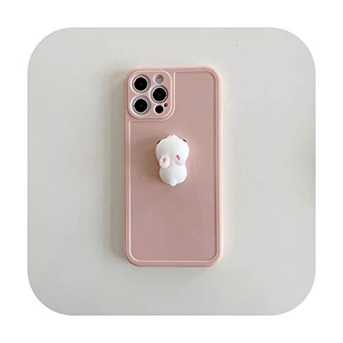 Suhoo Cute 3D Pig Bunny Dekompression Artefakt Handyhülle für iPhone 12 11 Pro Max 12mini X XS Max XR 7 8 Plus Weiche TPU Cover Bunny für iPhone XR