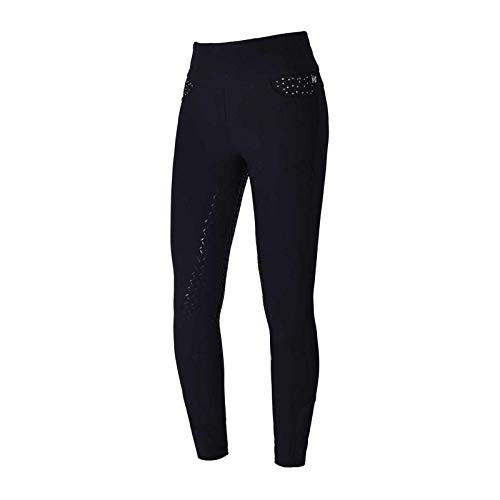 Kingsland Pull-on Reithose katja für Damen, E-Tec Black Winter Dressage 2020, Größe:38