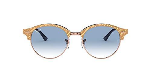 Ray-Ban 0RB4246 Gafas, Wrinkled Beige ON Blue, 51 Unisex