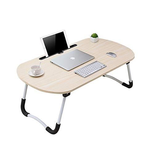 LVMEIHUA Bed, bureau, computertafel, studenten, slaapzaal, opvouwbaar, voor laptop, XL voor gebruik binnenshuis van de slaapkamer (70 x 40 x 28 cm)