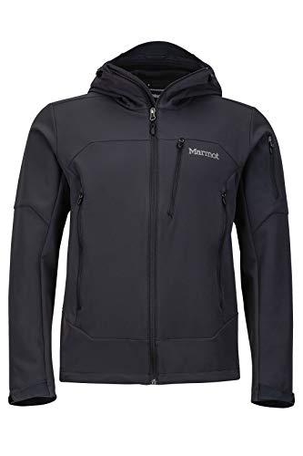 Marmot Herren Softshelljacke Funktions Outdoor Jacke, Wasserabweisend Moblis, Black, L, 81180
