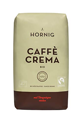 J. Hornig Kaffeebohnen Bio & Fair Trade, Caffè Crema Bio, 1000g,...