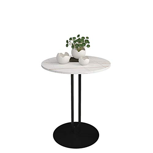 Green tree US Coffee table, side table, psychological waterproof small coffee table, sofa side table and round movable tray for living room, bedroom, balcony and office (white)