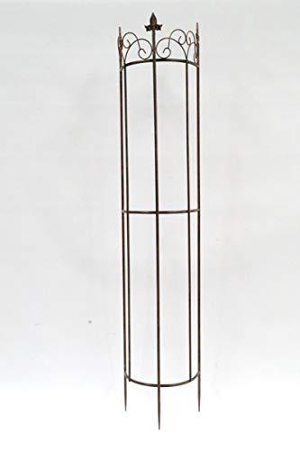 Krippenbaustudio Böhner Rankgitter Clematis groß, halbrund aus Metall, braun