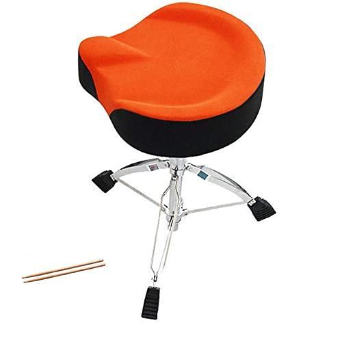 Renovierung Haus Drumhocker Wildleder Abnehmbarer Universal Drum Throne Set Motorrad Stil Anti Rutsch Drum Chair Höhenverstellbar für Kinder Erwachsene Musik Piano Guitar Chair (Color : Orange Size :