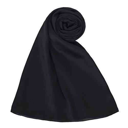 PB-SOAR 100% Seide Seidenschal Schal Stola Halstuch, einfarbiger Schal aus Seide, 180 x 86cm, 20 Farben auswählbar