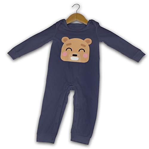 WushXiao Baby Crawler Teddybär, lang, Schwarz Gr. 18 Monate, navy