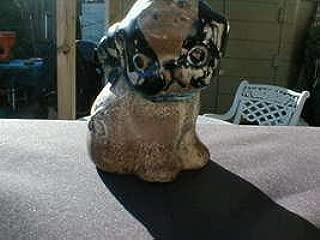 HUBLEY DRAYTON PUPPO CAST IRON PUP/DOG BANK