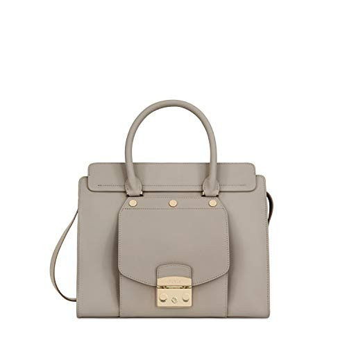 Furla Metropolis Magia Ladies Medium Beige Sabbia Leather Satchel 962994