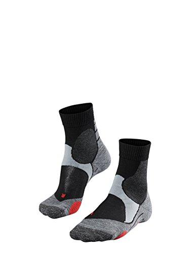 FALKE Unisex Biking Socken BC3, Radsportsocken für Damen und Herren, Fahrradsocken mit Baumwolle, 1 Paar, Schwarz, Größe: 44-45