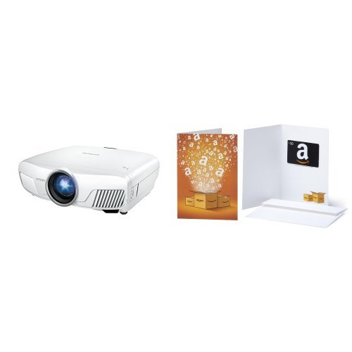 Epson Home Cinema 5040UBe WirelessHD 3LCD Home Theater Projector with 4K Enhancement, HDR10, 100% Balanced Color and White Brightness, Ultra Wide DCI-P3 Color Gamut and UltraBlack Contrast & $50 Amazon.com Gift Card