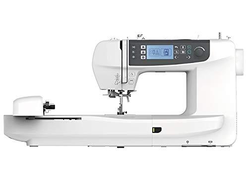 Necchi NCH01AX - Máquina de coser, interior de fundición a presión, de aluminio, carcasa de ABS, blanco, normal