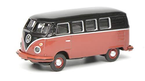 Schuco 452633700 VW T1c Bus, Modelauto, 1:87, zwart/rood
