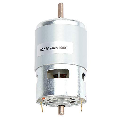 Coolty 12V 10000RPM DC Bürstenloser Motor, Doppelkugellager High Speed Micro Elektromotor für DIY Electric