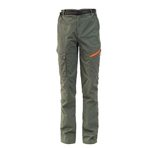 LaoZan Hombres Mujer Exterior Conjunto Chaqueta Pantalones de Senderismo Hidrófugo Respirable Secado Rápido Escalada Ropa de Calle Pantalones de Ciclismo (Ejercito Verde#2(Hombres),3XL