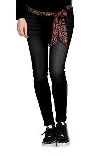 Love2Wait Schwangerschafts-Jeans Sophia Comfort Bund (W30/L30, schwarz (Black))