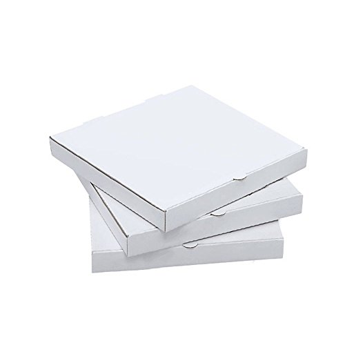 Kraft White Pizza Box 9inch Pizza Boxes Kraft Pizza Paperboard Take Out Containers Packing Boxes 1 3/4h 10 Pieces