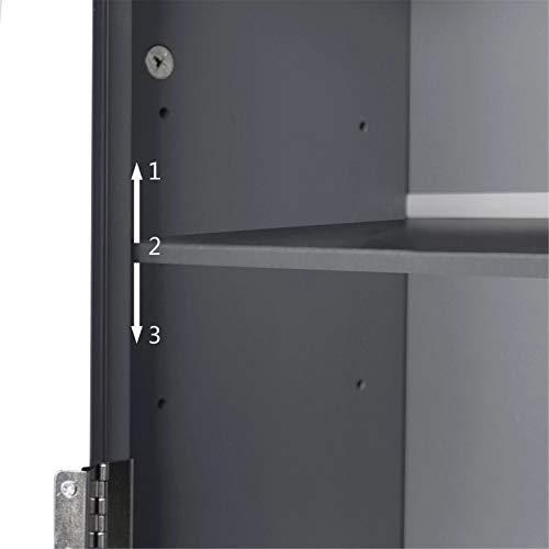 Armarios Altos Gabinete de baño gabinete de Inodoro de Dos Puertas Mango de Gama Alta Gris Impermeable Impermeable fácil de Instalar Muebles de baño de Armario (Color : Gris, Size : 70x20x165.3cm)