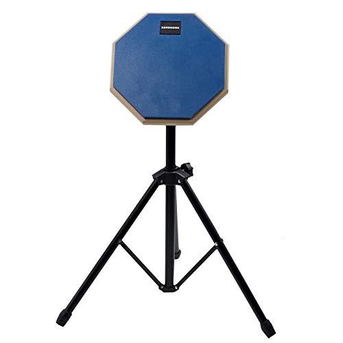 ZERONOWA ドラム トレーニングパッド 練習用パッド 8インチ スタンド付き (ブルー)