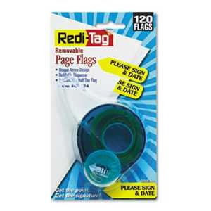 """Redi-Tag 81124 Arrow Message Page Flags in Dispenser""""Please Sign and Date"""" Yellow 120 Flags"""
