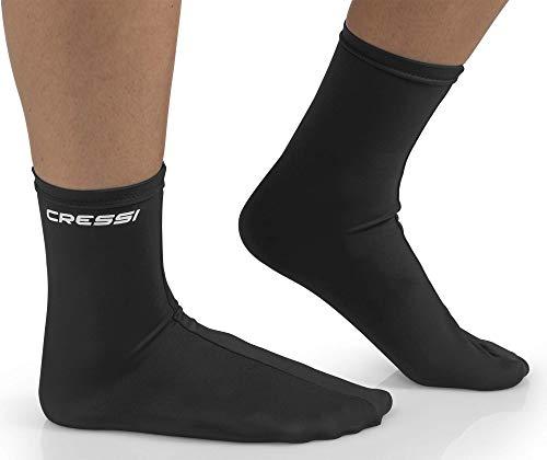 Cressi Fins Calcetin Ultrastretch, Negro/Negro, L/XL