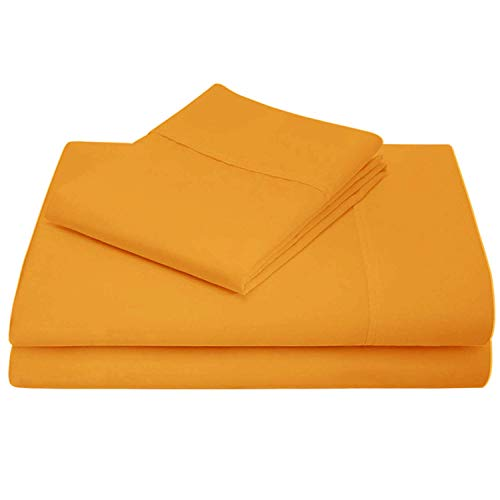 Airomis 1000 TC Cotton Bed Sheets on Amazon - 4 Pc Gold, Queen Sheet Set, Single Ply Long Staple Combed Cotton Yarns, Best Luxury Hotel Sheets Like Sateen Weave, Fits Mattress Upto 21'' Deep Pocket