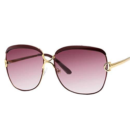 FRGH Gafas De Sol Marrones De Moda para Mujer con Montura De Gafas De Sol De Tonos Populares para Mujer