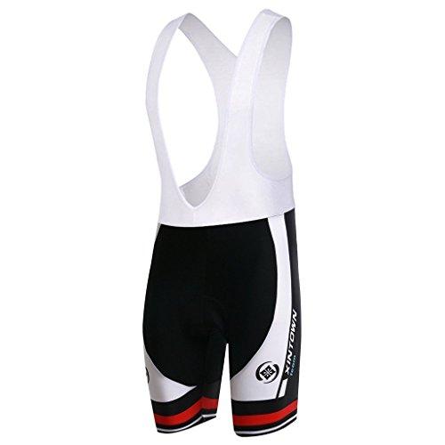 SKYSPER Radtrikot Herren,Fahrradtrikot mit Sitzpolster Fahrradbekleidung mit 3D-Kissen Radfahren Schnelltrocknend Atmungsaktive Bequeme Mountainbike Hose Trikot für Radsport Jogging Wandern Kletter