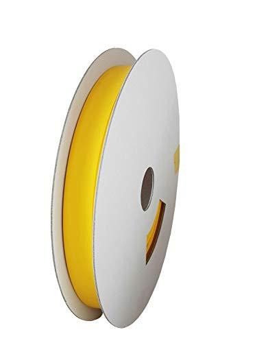 9 mm Ø / 18 m/geel (3:1) bedrukbare krimpkous