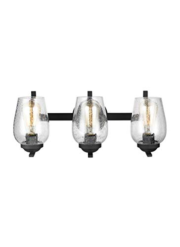 Sea Gull Lighting 4427803-839 Morill Three Light Wall / Bath Vanity Style Lights, Blacksmith Finish