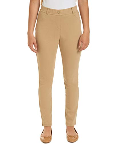 Chaps Womens Uniform Mid Rise Stretch Jegging, Khaki, Medium(7/9)