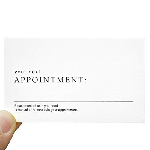 RXBC2011 Appointment Reminder Cards (Pack of 100) minimalist design