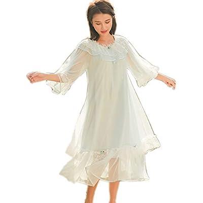 Womens' Lovely Nightgown Girls Lace Vintage Nightdress Priincess PJS Sleepwear Wedding Loungewear Chemises