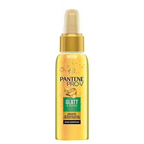 Pantene Pro-V Glatt & Seidig Haaröl mit Argan-Öl ohne Ausspülen, für Widerspenstiges Haar, Haarpflege Glanz, Haarkur, Haarpflege Trockenes Haar, Beauty, 100 ml