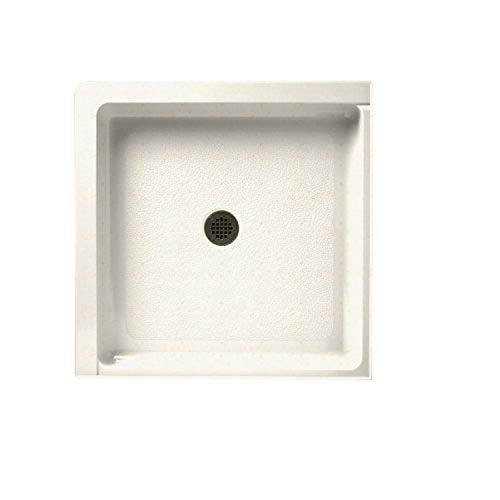 """Swanstone SS-36DTF-168 Solid Surface Center Drain Shower Base, 36"""" L x 36"""" H x 5.5"""" H, Baby's Breath"""