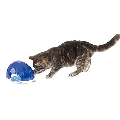 Trixie 46001 Cat Activity Snack Box, 19 × 13 × 14 cm, weiß/blau