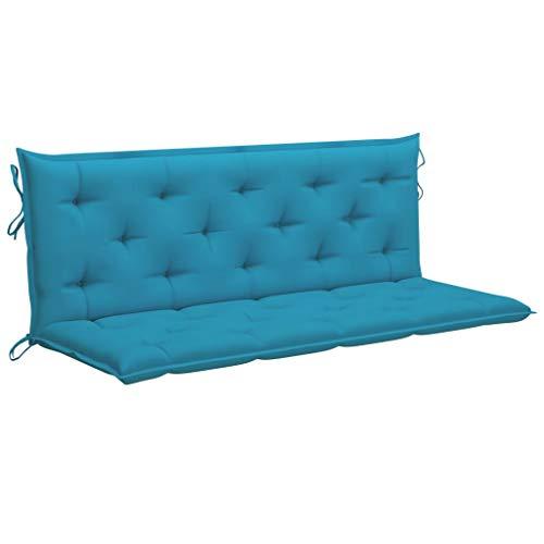 vidaXL Cuscino per Dondolo da Giardino Elegante Resistente Arredi Tessili per Esterni Decorativo Antipolvere Azzurro 150 cm in Tessuto Poliestere
