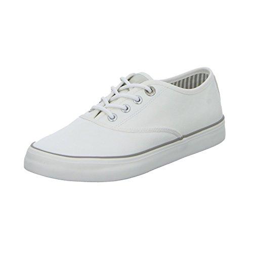 s.Oliver 5-5-23601-20 Modischer Damen Freizeitschuh, Sneaker, Schnürhalbschuh mit weichem Soft Foam Fußbett weiß (White), EU 37