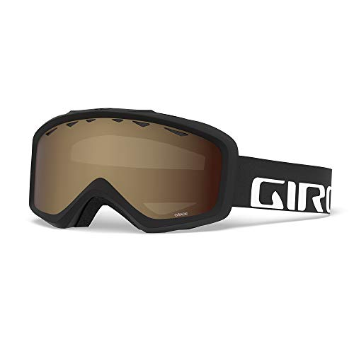 Giro Grade Youth Snow Goggles - Black Wordmark Strap with Amber Rose Lens (2021)