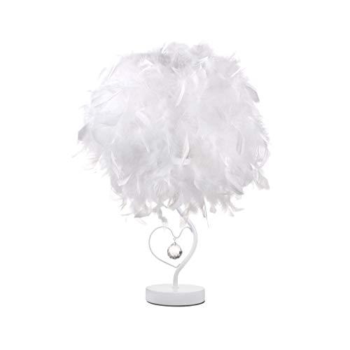 WFL-lámpara de escritorio Lámpara de mesa creativa caliente Protección de los ojos del amor de la pluma de la tabla de la lámpara LED de noche dormitorio regalo de cumpleaños decoración de la barra de