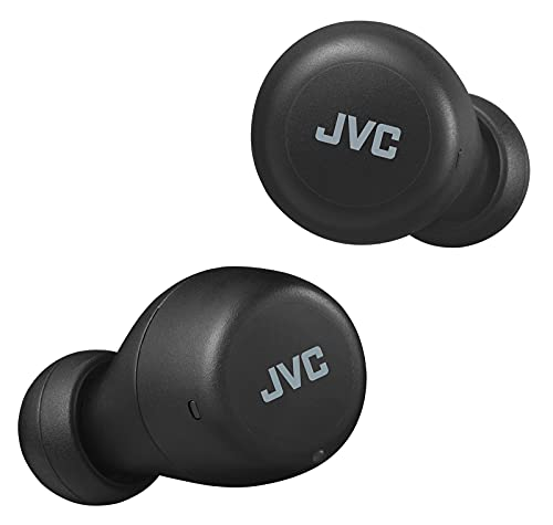 JVC Gumy Mini True Wireless Earbuds [Amazon Exclusive Edition] Auriculares Inalámbricos, Bluetooth 5.1, ResistenciaAgua (IPX4), Gran Duración de la Batería (hasta 15 Horas) - HA-Z55T-B (Negro)