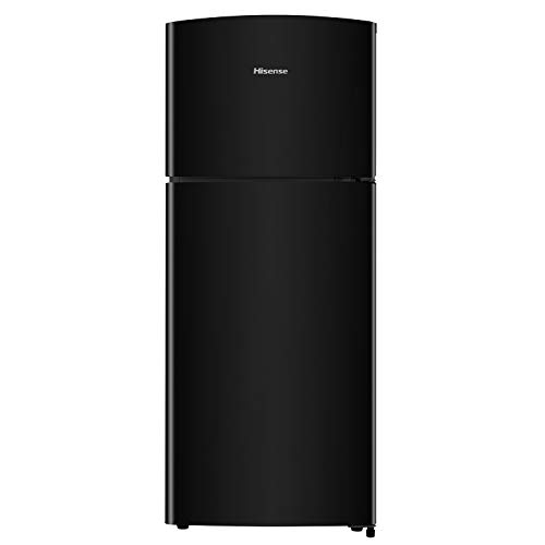 Hisense RT156D4ABF nevera de doble puerta independiente, 120 L, negro brillante