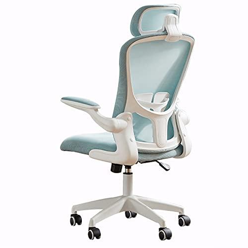 Sedia da Ufficio Sedia Girevole direzionale Sedie da Gioco, ergonomia, Sollevamento e Rotazione a 360 °, Nero