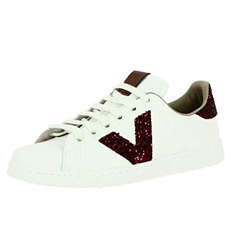 victoria Unisex-Erwachsene Tenis Piel Vegana Detalle Glitter Sneaker, dunkelviolett, 28 EU