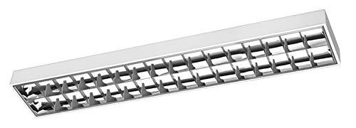 G-TECH - Lampada da incasso RASTRO, LED 120, 2 x 120 T8 LED-J, G13, AC220-240V, 50-60Hz, IP20, colore: Bianco