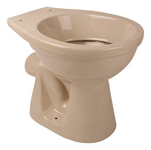 Calmwaters® - Stand-WC in Beige-Bahamabeige mit waagerechtem Abgang als Tiefspüler - 07AB2301