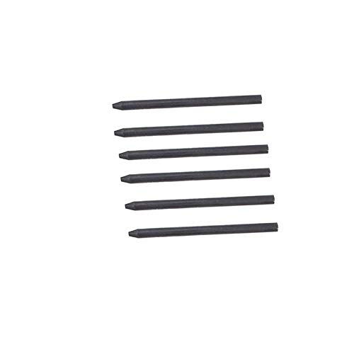 5.6MM Lead Refills for Metal Automatic Mechanical Graphite Pencil,6pcs HB Charcoal Lead Refills for Draft Drawing, Shading, Crafting, Art Sketching