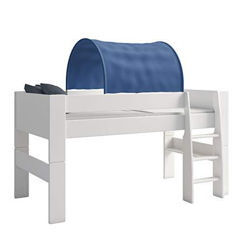 Steens For Kids Tunnelzelt für Kinderbett, Hochbett, 88 x 69 x 91 cm (B/H/T), Baumwolle, blau
