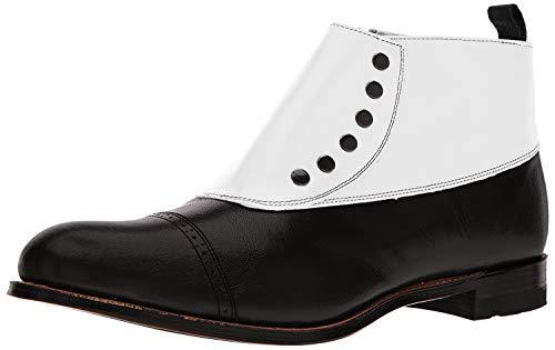 Stacy Adams Men's Madison Cap-Toe Spat Boot,Black/White,10 D US