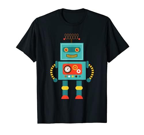 Linda Vintage & Retro Robot Art   Ciencia y Matemáticas Z000011 Camiseta